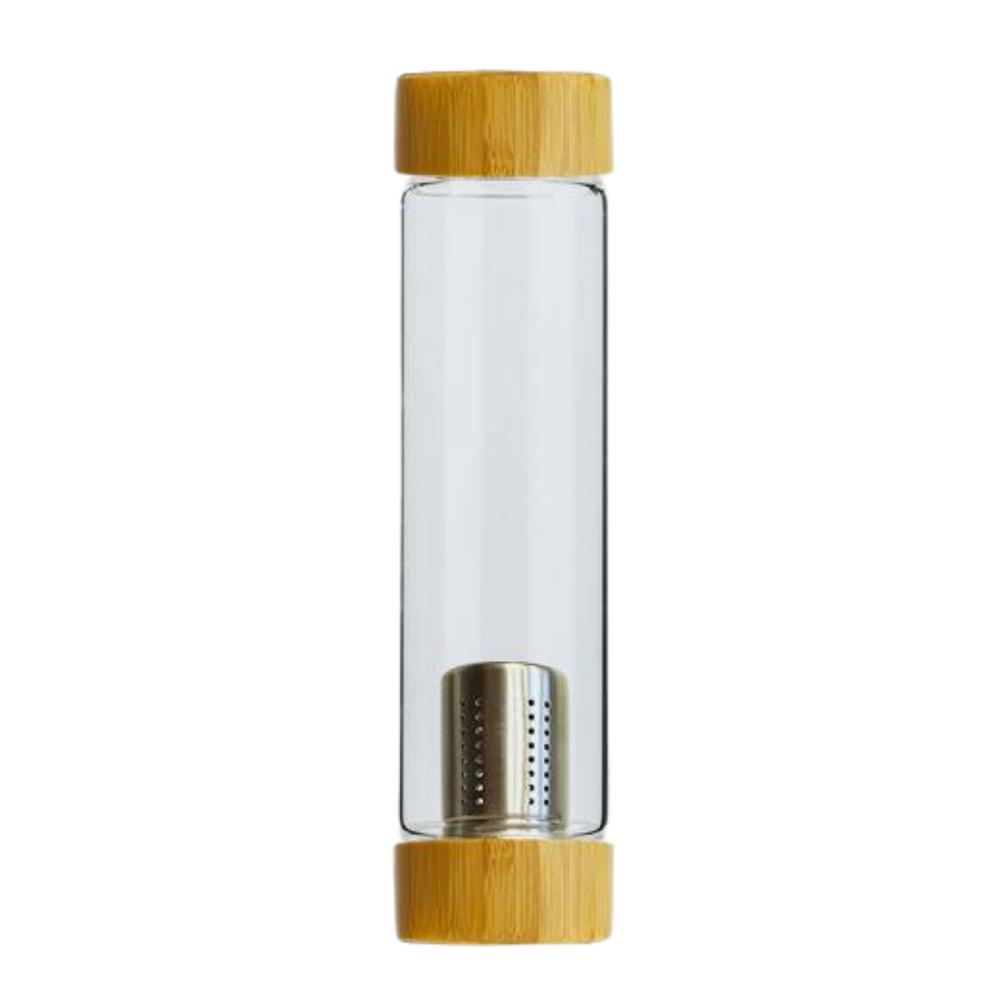 Botella infusora de vidrio y bambú